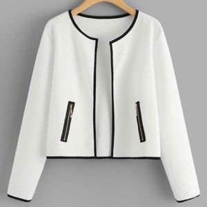 COPY - NEW white quilted light jacket
